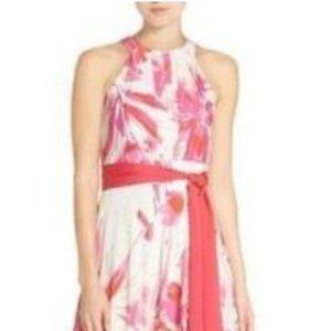 ELIZA J Floral Print Halter Maxi Dress Sz0P